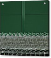 Shopping Trolleys Acrylic Print