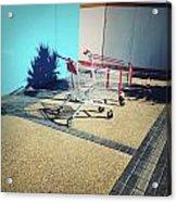 Shopping Trolleys  Acrylic Print
