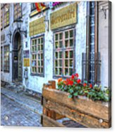 Shops And Flower Boxes Acrylic Print
