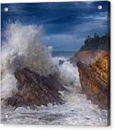 Shore Acre Storm Acrylic Print by Darren  White