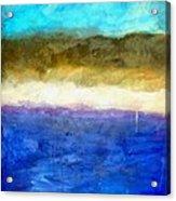 Shoreline Abstract Acrylic Print