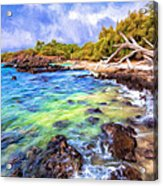 Shoreline At Puako Acrylic Print