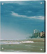 Shoreline Daytona Acrylic Print by Paulette Maffucci