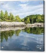 Shoreline Reflection Of Northern Lake Acrylic Print