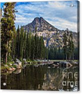 Shoreline View Of Anthony Lake Acrylic Print