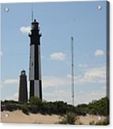 Short And Tall Cape Henry Lights Acrylic Print