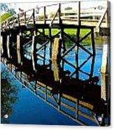 North Bridge On The Concord Acrylic Print