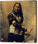 Shout At Oglala Sioux  Acrylic Print