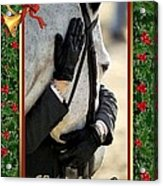 Show Horse English Blank Christmas Card Acrylic Print