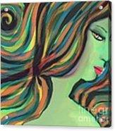 Show Me The Colors Acrylic Print by Hilda Lechuga