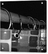 Shower Curtin Rings.... Acrylic Print