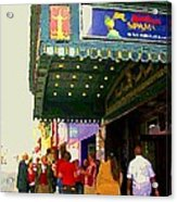 Showtime Toronto's Broadway Monty Python Spamalot Theatre District The Plays The Thing City Scenes Acrylic Print