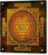 Shri Yantra Gold Lakshmi Acrylic Print by Lila Shravani