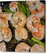 Shrimp And Asparagus Acrylic Print