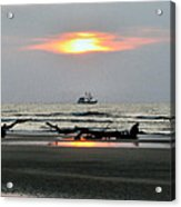 Shrimp Boat At Sunrise Acrylic Print