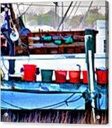 Shrimp Boat Buckets Acrylic Print
