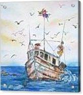 Shrimp Boat Sailing Acrylic Print