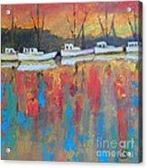 Shrimp Boats At Dawn Acrylic Print
