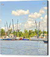 Shrimp Boats In Georgetown Sc Acrylic Print