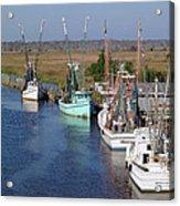 Shrimp Boats Of Darien Acrylic Print