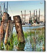 Shrimp Dock Pilings Acrylic Print