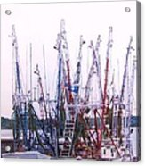 Shrimpers On The Shem Acrylic Print
