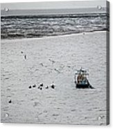Shrimping In Mobile Bay Acrylic Print