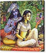 Shringar Lila Acrylic Print by Vrindavan Das