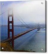 Shrouded Golden Gate Bridge  Acrylic Print