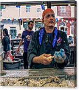 Shucking Oysters In The French Quarter Acrylic Print