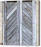 Weathered Wooden Shutters Acrylic Print