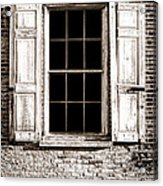 Shutters Acrylic Print by Olivier Le Queinec