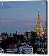 Shwedagon Pagoda In Yangon Myanmar Acrylic Print