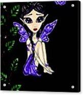 Shy Violet Fairy Acrylic Print