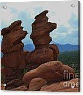 Siamese Twins Garden Of The Gods Colorado Acrylic Print