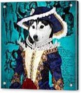 Siberian Husky Art Canvas Print - Baroness Acrylic Print