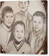 Siblings Acrylic Print