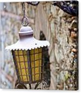 Sicilian Village Lamp Acrylic Print by David Smith