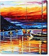 Sicily Messina Acrylic Print by Leonid Afremov