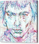 Sid Vicious - Colored Pens Portrait Acrylic Print