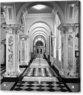 Side Hall Off The Main Entrance Belfast City Hall Built In 1906 County Antrim Northern Ireland Acrylic Print