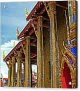 Side Of Royal Temple At Grand Palace Of Thailand In Bangkok Acrylic Print