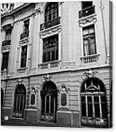 side of Santiago Stock Exchange building Chile Acrylic Print