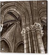 Side Vault In Notre Dame Acrylic Print