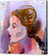Side View Female In Pastel Shades Acrylic Print
