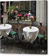 Sidewalk Cafe In Antwerp Acrylic Print