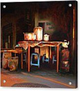 Sidewalk Cafe Acrylic Print by Sue  Darius