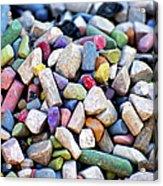 Sidewalk Chalks Acrylic Print