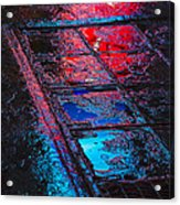 Sidewalk Reflections Acrylic Print