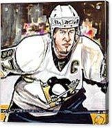 Sidney Crosby Acrylic Print by Dave Olsen
